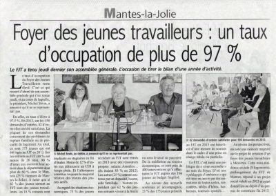 Au FJT, 97% d'occupation