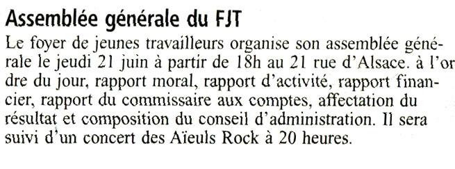 L'AG du FJT... suivie d'un concert des Aïeuls Rock