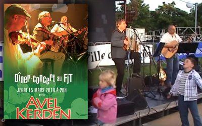 Avel Kerden en dîner-concert au FJT Mantes
